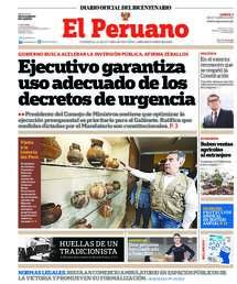 Edición Impresa del Diario Oficial El Peruano
