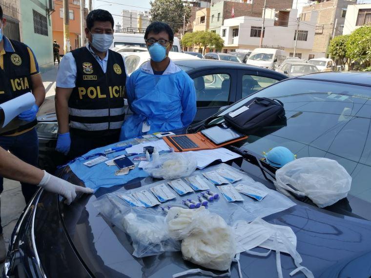 Sujeto cobraba por realizar pruebas de descarte de coronavirus utilizando tests robados