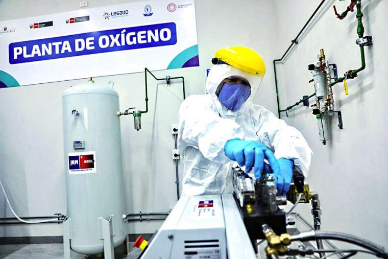 Nueva planta de oxígeno entra en funcionamiento para atender a pacientes de  Chorrillos
