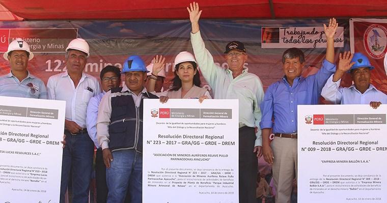 Mineros formalizados tendrán acceso a beneficios y mejores condiciones de trabajo