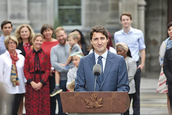 Justin Trudeau disuelve el Congreso y convoca a elecciones generales — Canadá