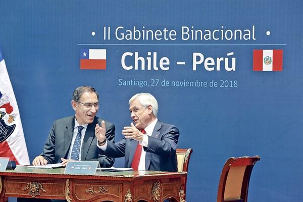 Vizcarra y Piñera refuerzan su apoyo