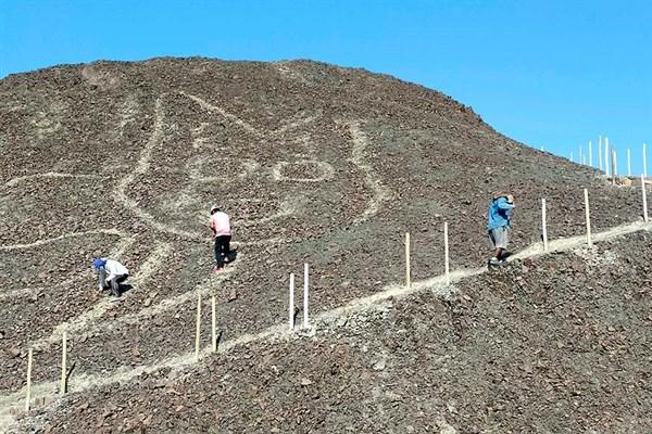 ¡Histórico! Descubrimiento de un geoglifo con forma de felino en la Pampa de Nasca